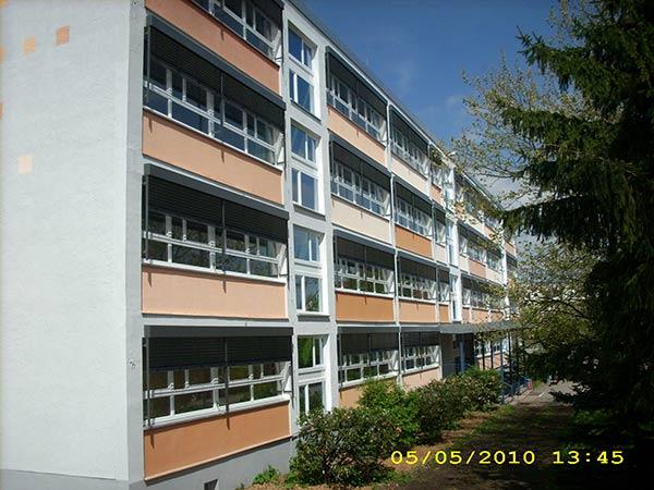 Sonnenschutzanlage Schule<br> Eisenberg